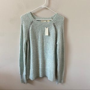 Anthro Sleeping on Snow Blue Knit Sweater- Size S